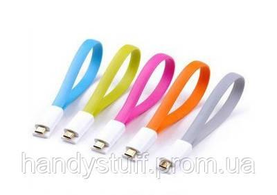 Дата кабель лапша магнит USB micro USB cable