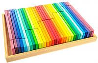 Деревянные цветные строительные блоки nic