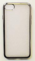 Чехол на Айфон 8 ТПУ Прозрачный Steel Grey