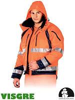 Куртка зимняя из флуоресцентной ткани утепленная мехом LH-PROVIFER_J PG