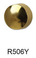 Серьги для прокола мочки уха R506Y Круг луна с золотым покрытием