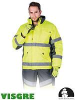 Зимняя куртка изготовленная из флуоресцентной ткани LH-ROADER YS