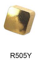 Серьги для прокола мочки уха R505Y Квадратик с золотым покрытием