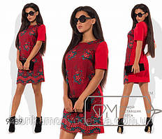 Оригинальное платье с вышивкой новинка Фабрика моды ( 42,44,46 )