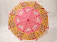 Зонт детский, трость, полуавтомат, розовый, Winx club 33_1_41а11