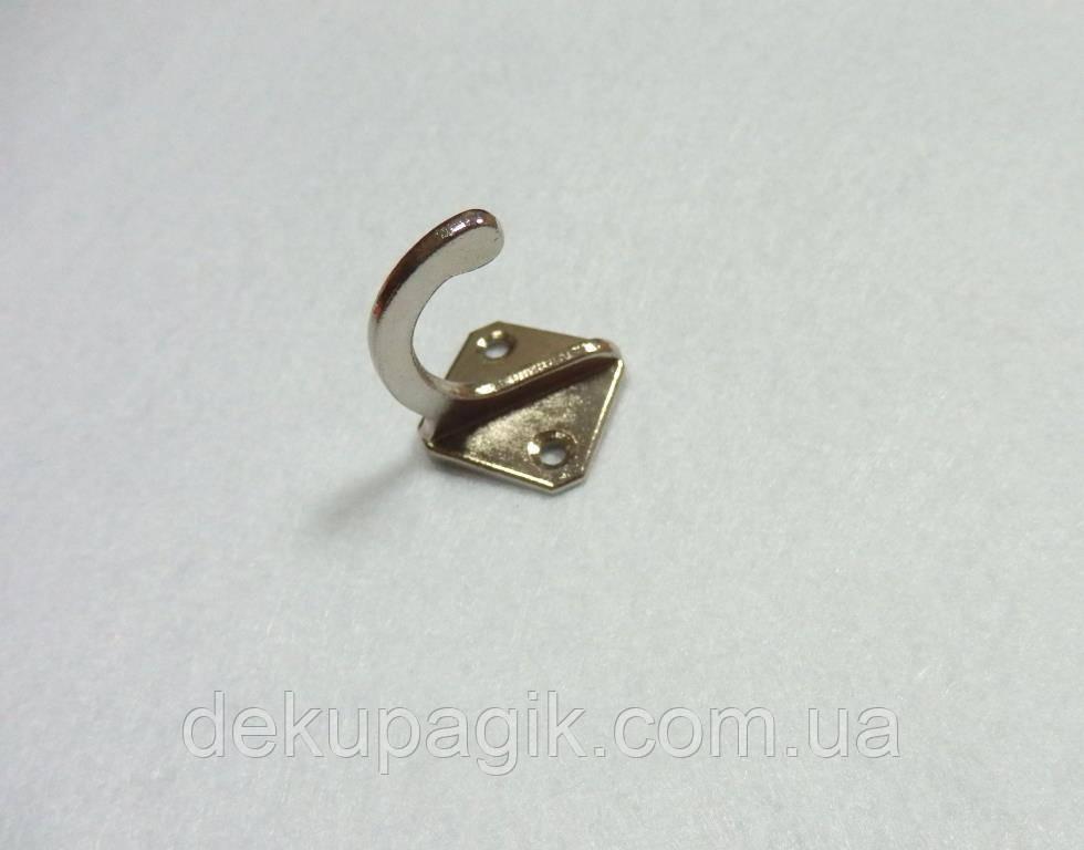 Гачок декоративний-42, срібло, 2,8х3,2см