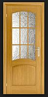Дверное полотно Капри со стеклом кора бронза Омис