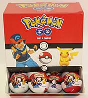 Пластиковый шар с сюрпризом Pokemon Go 24 шт Aras