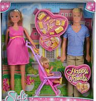 Кукла Steffi Штеффи Счастливая семья 5733200 SIMBA Оригинал