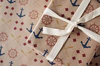 Подарочная упаковка в морском стиле