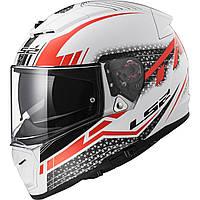 Шлем LS2 FF390 Breaker SPLIT, WHITE RED, M