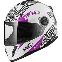 Детский шлем LS2 FF392 JUNIOR SAVANE, WHITE PURPLE, L