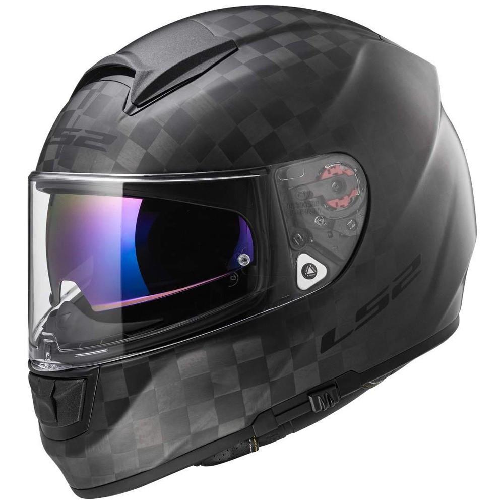 Шлем LS2 FF397 VECTOR CT2 SINGLE MONO, MATT CARBON, S