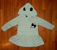 Детское платье для малышек Медвежонок бирюза 74/98 р