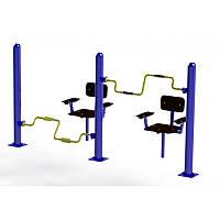 Уличный тренажер для мышц ног и рук