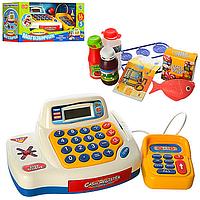 Игровой набор Кассовый аппарат 7020-UA - калькулятор, с продуктами, сканер, деньги, муз.укр., звук укр., свет.