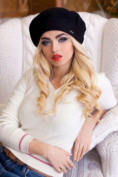 Зимовий жіночий Бере «Беата» Чорний