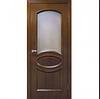 Двери межкомнатные шпонированные  Лаура со стеклом Омис
