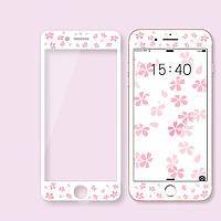 """Защитное стекло """"Flowers"""" для iPhone 6/6S"""