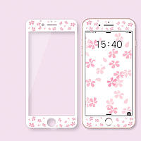 """Защитное стекло """"Flowers"""" для iPhone 6+/6s+"""