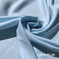 Небесно-голубая льняная ткань 100% лен., цвет 146