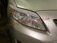 Реснички на фары для Toyota Corolla 2006-2013
