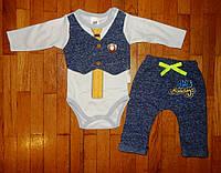 Модный костюмы для новорожденных Джентельмен 0-3 мес.