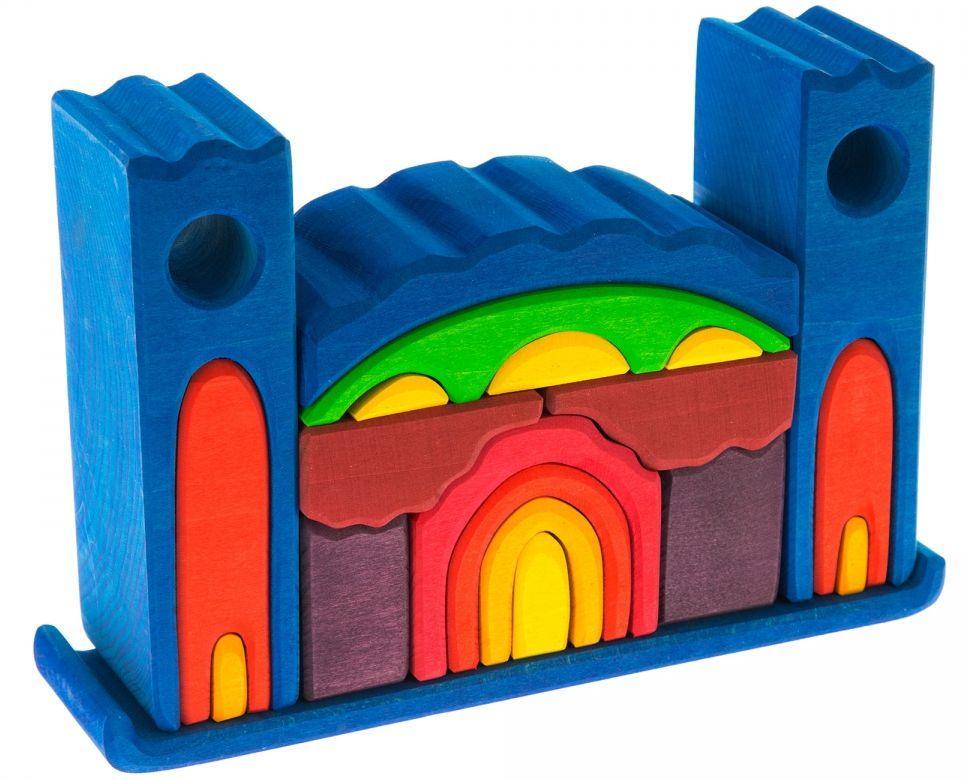 Сказочный деревянный детский конструктор Все в замке NIC523268 Синий