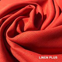 Кирпичная льняная ткань 100% лен, цвет 705