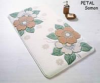 Набор ковриков для ванной Confetti 57х100+50х57 - Petal 01 salmon