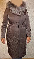 Пальто с наполнителем верблюжья шерсть серо-коричневый