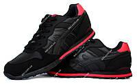 Яркие мужские кроссовки черные с красными вставками (69ч)