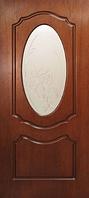 Двери межкомнатные шпон Оливия со стеклом Омис