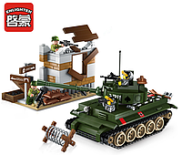 "Конструктор Brick 1711 ""Атака танка""380 дет., фото 1"