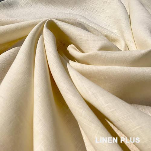 Бежевая льняная ткань 100% лен.ш. 150, цвет 584