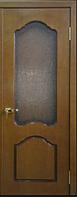 Дверное полотно шпонированое Оливия со стеклом прямоугольным Омис