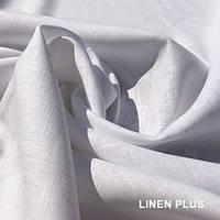 Белая  льняная ткань 100% лен, цвет 101