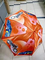 Зонт трость для мальчика мотоциклы