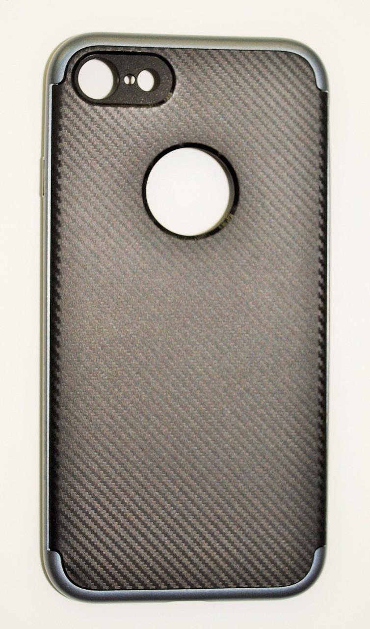 Чехол на Айфон 7 SGP Neo Hybrid Силикон и пластик Черный Серый