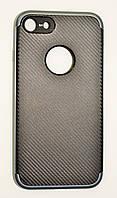 Чехол на Айфон 7 SGP Neo Hybrid Силикон и пластик Черный Серый, фото 1