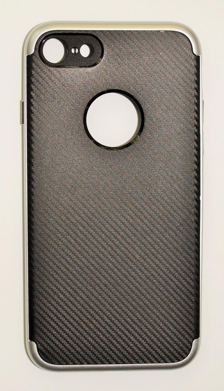 Чехол на Айфон 7 SGP Neo Hybrid Силикон и пластик Черный Серебро