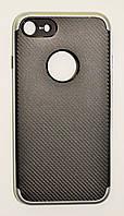 Чехол на Айфон 8 SGP Neo Hybrid Силикон и пластик Черный Серебро