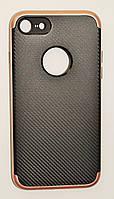 Чехол на Айфон 8 SGP Neo Hybrid Силикон и пластик Черный Розовое Золото