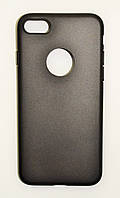 Чехол на Айфон 7 Силикон 0.5 мм Матовый Черный, фото 1