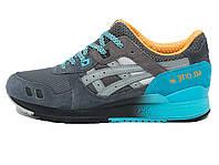 Мужские кроссовки Asics Gel Lyte III Blue White (Реплика ААА+) 2116a980690eb