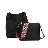 Черная вместительная женская сумка