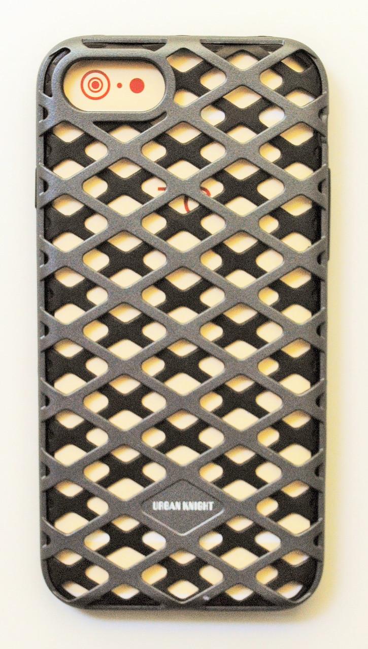 Чехол на Айфон 7 Urban Knight Силикон с пластиком Черный Серый