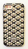 Чехол на Айфон 7 Urban Knight Силикон с пластиком Черный Серебро, фото 1