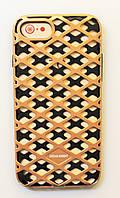 Чехол на Айфон 8 Urban Knight Силикон с пластиком Черный Золото