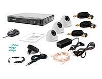 Комплект видеонаблюдения Tecsar AHD 3IN-3M DOME, фото 1